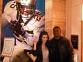 Kim & Reggie before the Superbowl