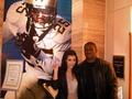 Kim & Reggie before the Superbowl