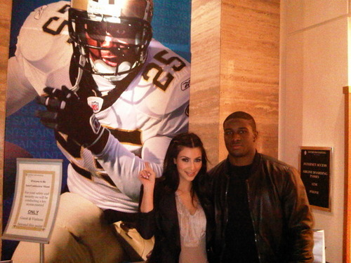 Kim Kardashian wallpaper called Kim & Reggie before the Superbowl