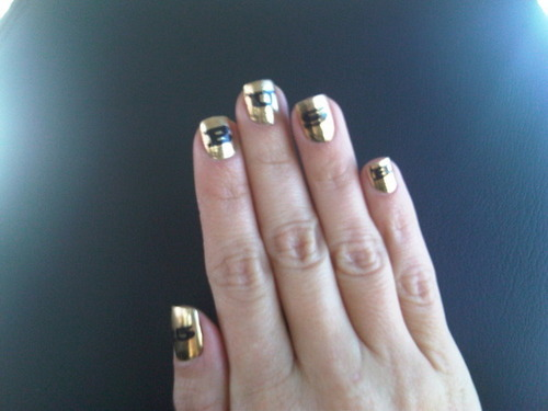 Kim's nails for the Superbowl