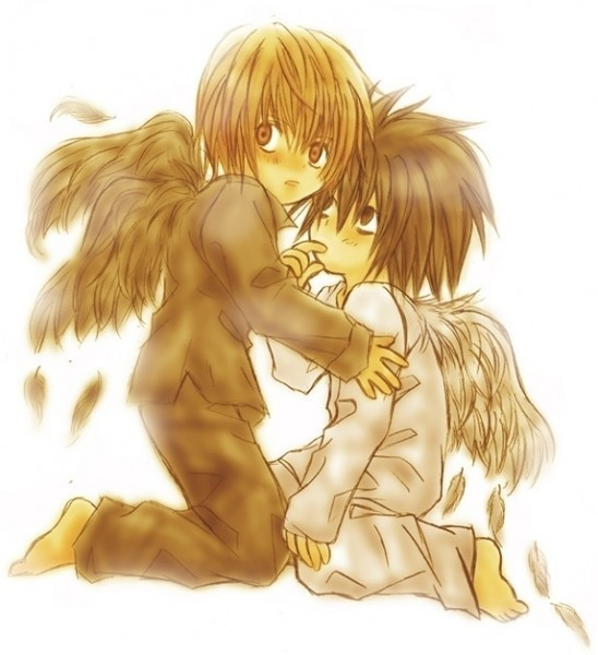 death note light and l chibi - photo #26