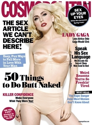Lady GaGa Covers April Issue Of Cosmopolitan Magazine