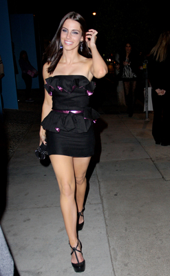 Jessica Lowndes wallpaper titled Leaving The Pucca Capsule Collection Launch Party, February 18