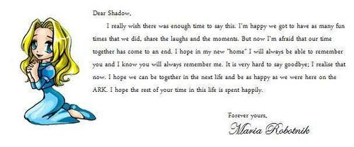 Shadow The Hedgehog kertas dinding called Maria's Goodbye