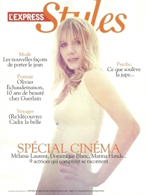 Melanie for L'Express Styles Magazine (February 2010)