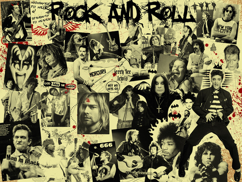 Music wallpaper titled Rock'n'roll