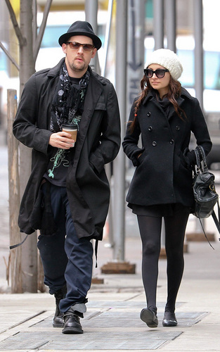 Nicole Richie and Joel Madden out in NYC (Feb 22)