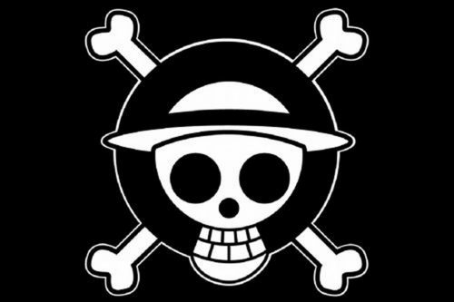 straw hats big flag