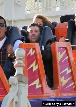 Patrick Dempsey& Family at Disney Land