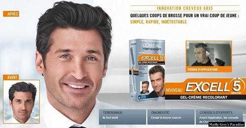 Patrick Dempsey- L'oreal Hair colouring ad