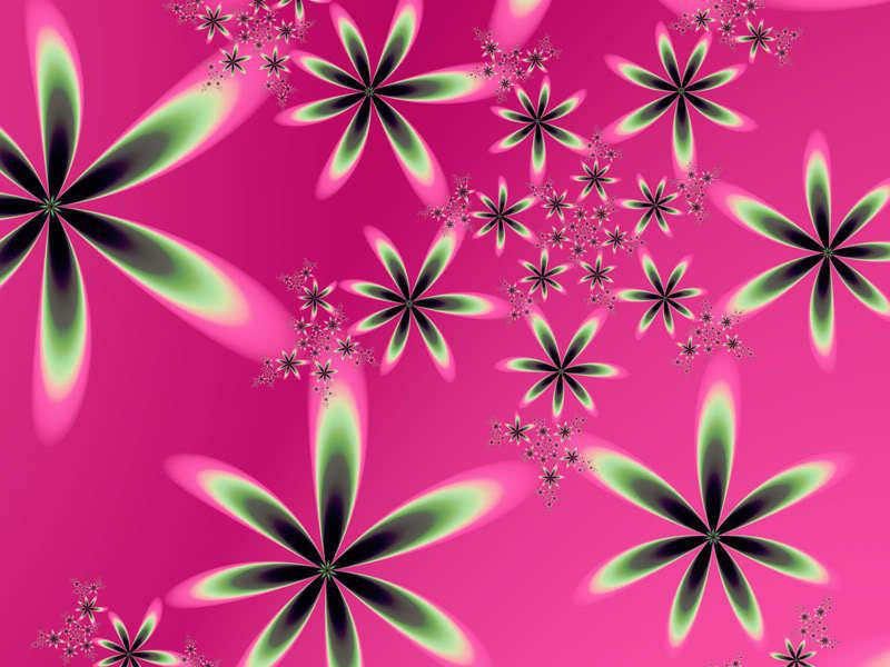 Hot Pink Green Desktop Wallpaper