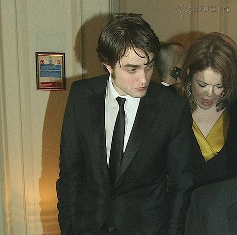 Rob leaving BAFTA's Afterparty