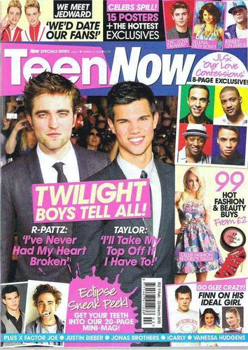 """Robert Pattinson & Eclipse In """"Teen Now"""" Magazine"""