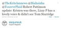 Robert Pattinson Was Out Supporting Lizzy Last Night  - twilight-series photo