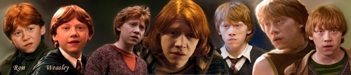 Ron Weasley through the ages