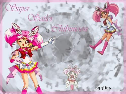 Sailor Mini moon (Rini) wallpaper entitled Sailor chibi Moon (Rini)