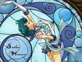 Sailor Mercury kertas dinding