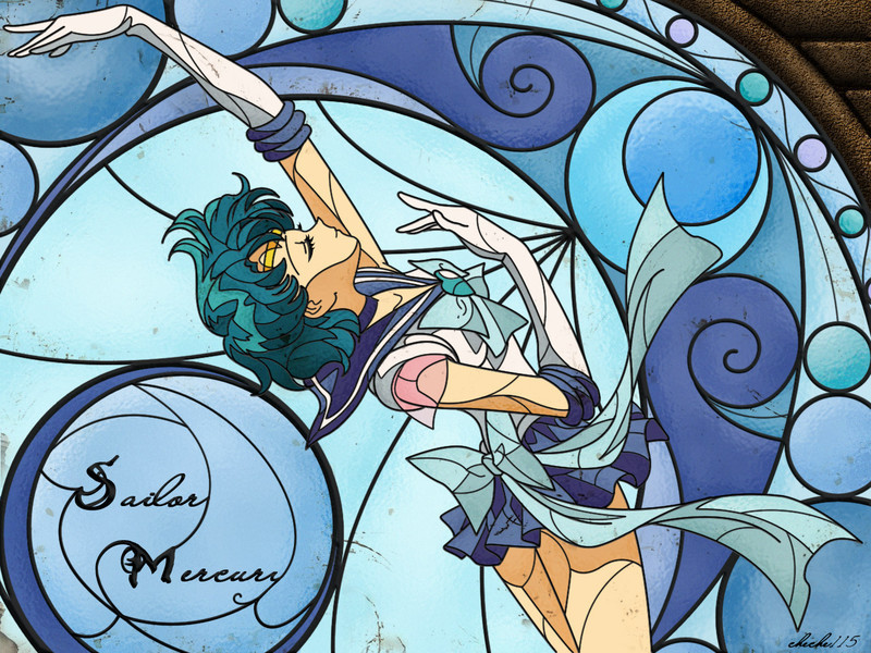 Sailor Mercury fondo de pantalla