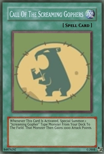 Screaming Gopher Team Card!