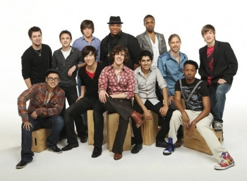 American Idol wallpaper titled Season 9 - Top 12 Guys - Photoshoot