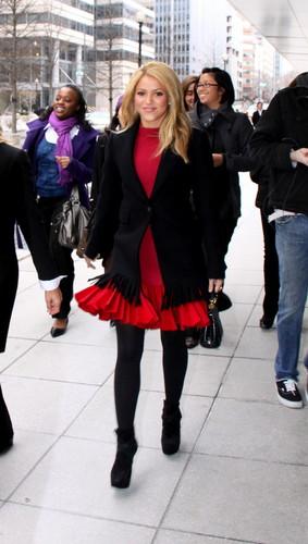 Шакира arrives at the World Bank in Washington, DC - February 22