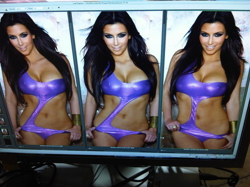 Kim Kardashian wallpaper titled Sneak peek of a swimsuit shoot--Brian Lichtenberg suit