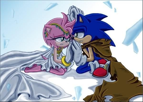 Sonic-the-hedgehog-amyrose-princess-and-her-knight-sonic-and-amy    Amy Rose The Hedgehog Crying