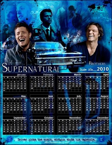 Supernatural 2010 Calendar