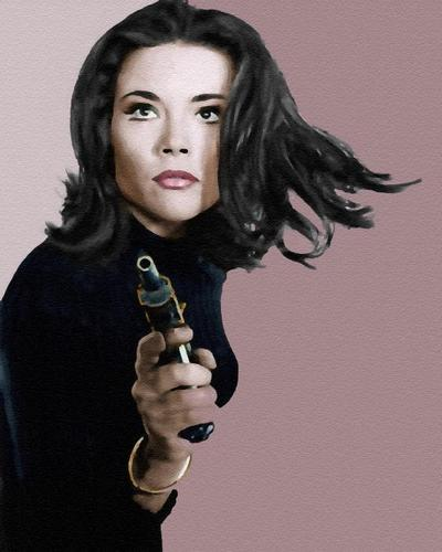 Diana Rigg Hintergrund called TECHNIQUECOLOR DIANA RIGG - EMMA PEEL