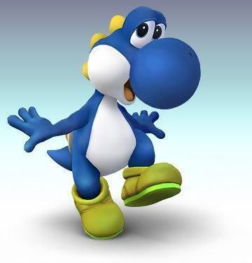 Super Mario Sunshine karatasi la kupamba ukuta titled The Blue Yoshi