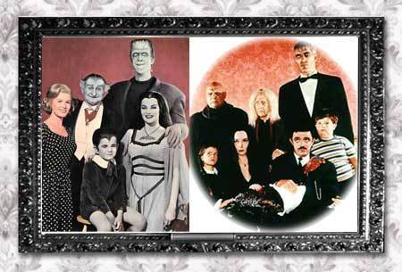 The Addams Family 1964 wallpaper called The Munsters vs The Addams Family