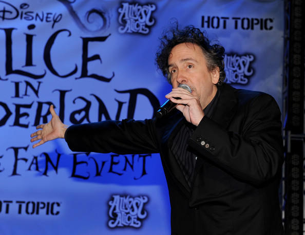 Tim burton @ the Walt Disney Pictures & Buena Vista Records 'Alice In Wonderland' peminat Event
