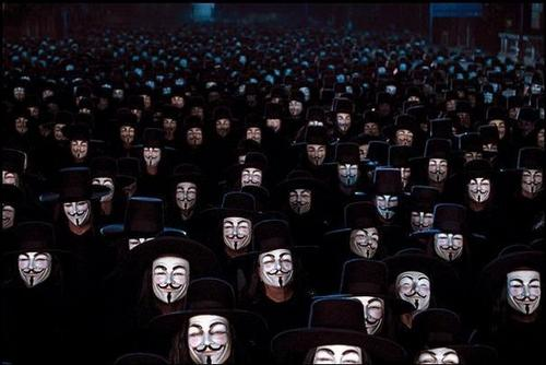 V for Vendetta Masked People