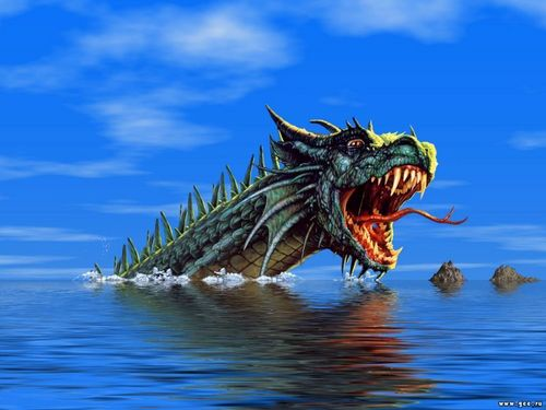 Drachen Hintergrund called Water dragon