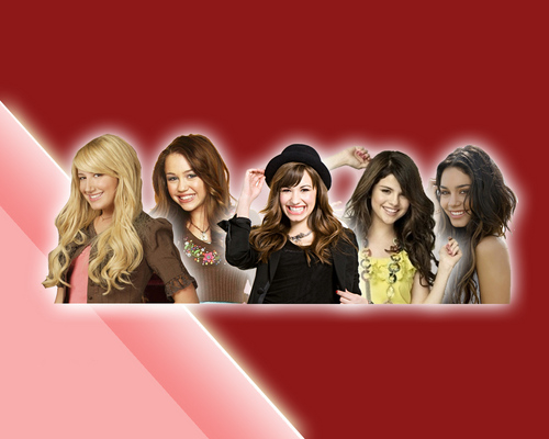 ashley, demi, miley, selena, vanessa