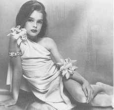 Brooke Shields wallpaper titled early black n white