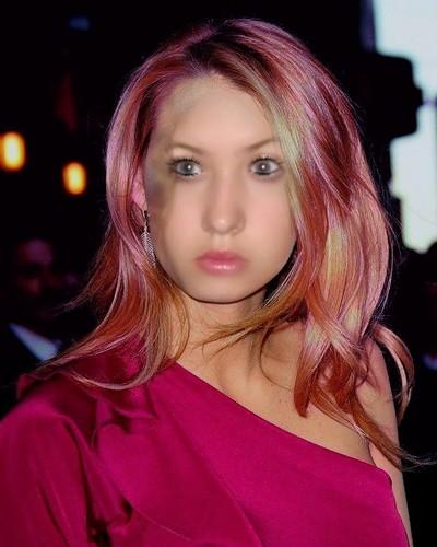 jackie with розовый hair!!!