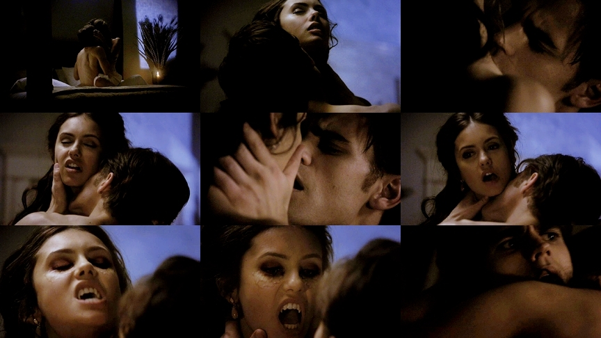 vampire diaries wallpaper katherine. katherine and stefan