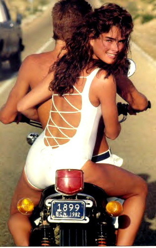 brooke shields wallpaper titled motorcycle mama