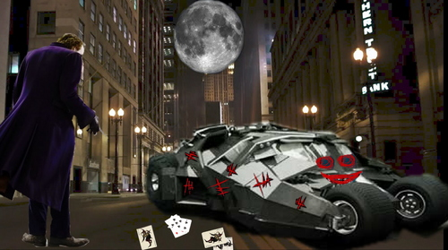 vandalizing the batmobile