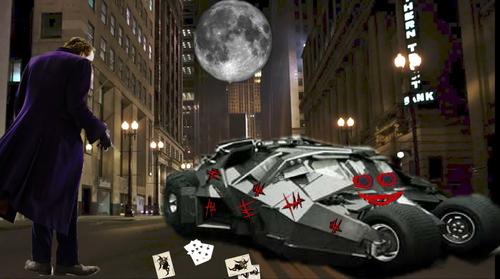 vandalizing the batmobile