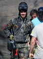 Out at a paint-ball range in Los Angeles, CA. 28.02.10 - the-jonas-brothers photo