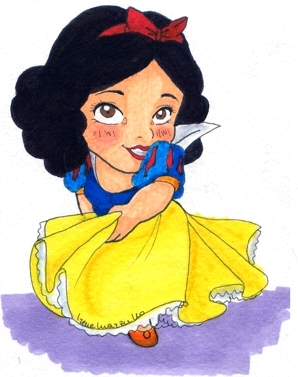 A Shy Snow White Dancing