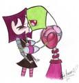 A kiss zim seeks