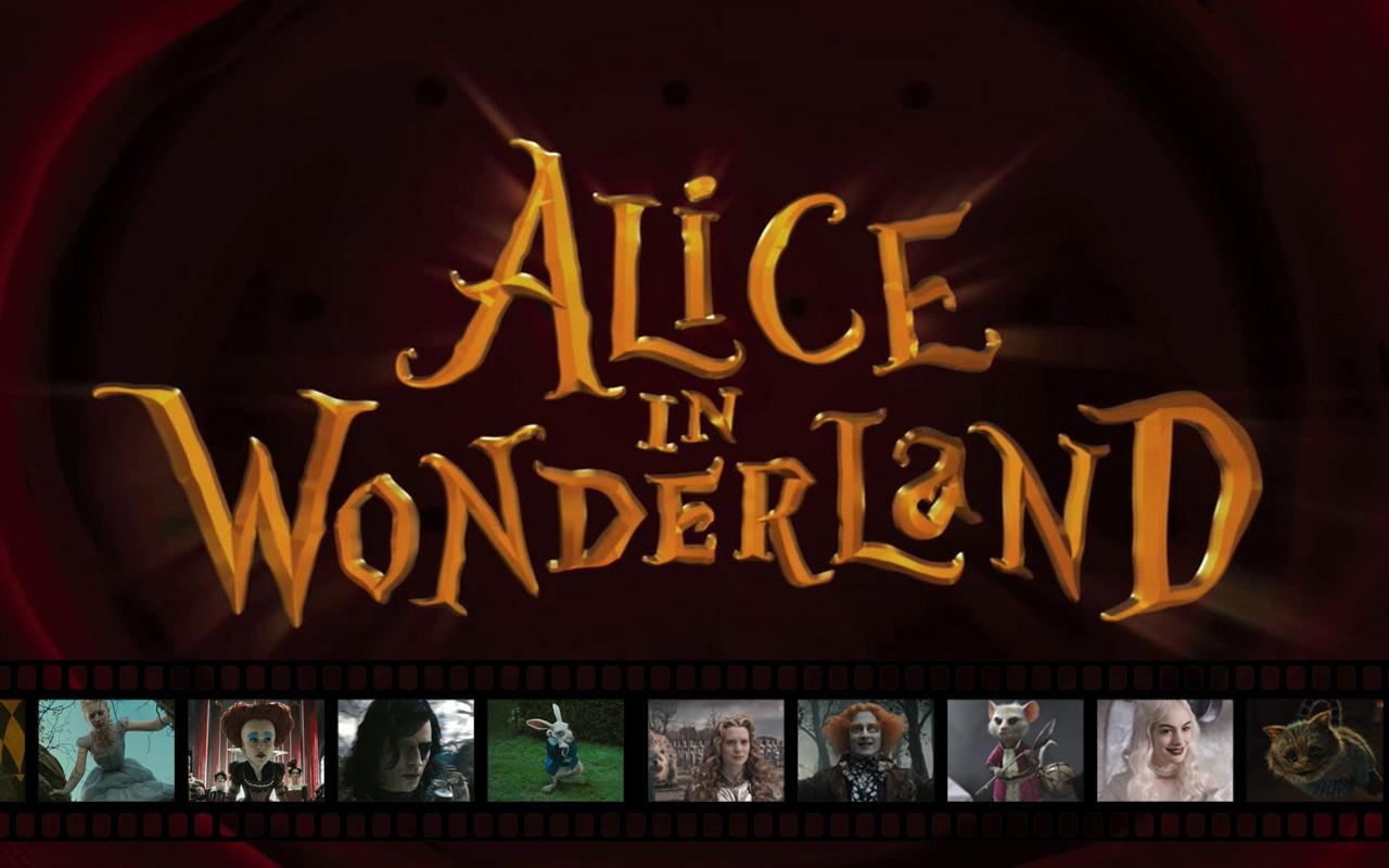 Alice in Wonderland fond d'écran - Filmstrip