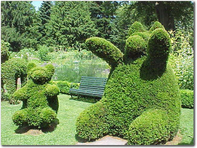 Green wallpaper entitled Animal Topiary