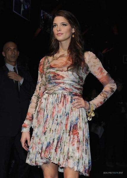 Ashley @ Dolce & Gabbana Milan Fashion Week Womenswear - February 28