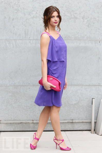 Ashley Greene attends Giorgio Armani Fashion প্রদর্শনী