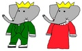 Babar and Celeste - parents - babar-the-elephant fan art