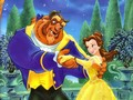 disney-couples - Belle and The Beast wallpaper